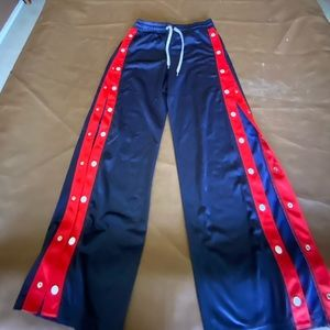 Blue and Red Pants
